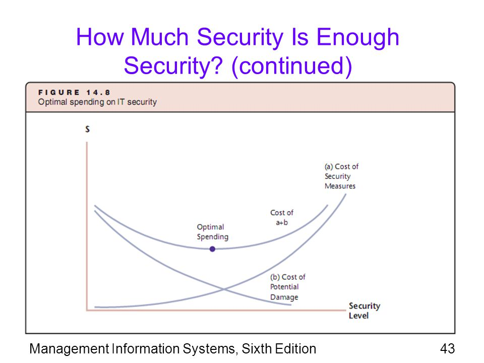 How Much Security Is Enough Security (continued)