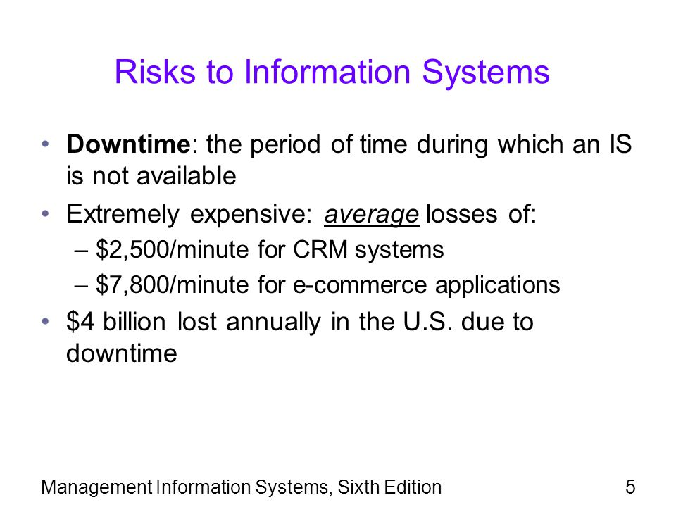 Risks to Information Systems