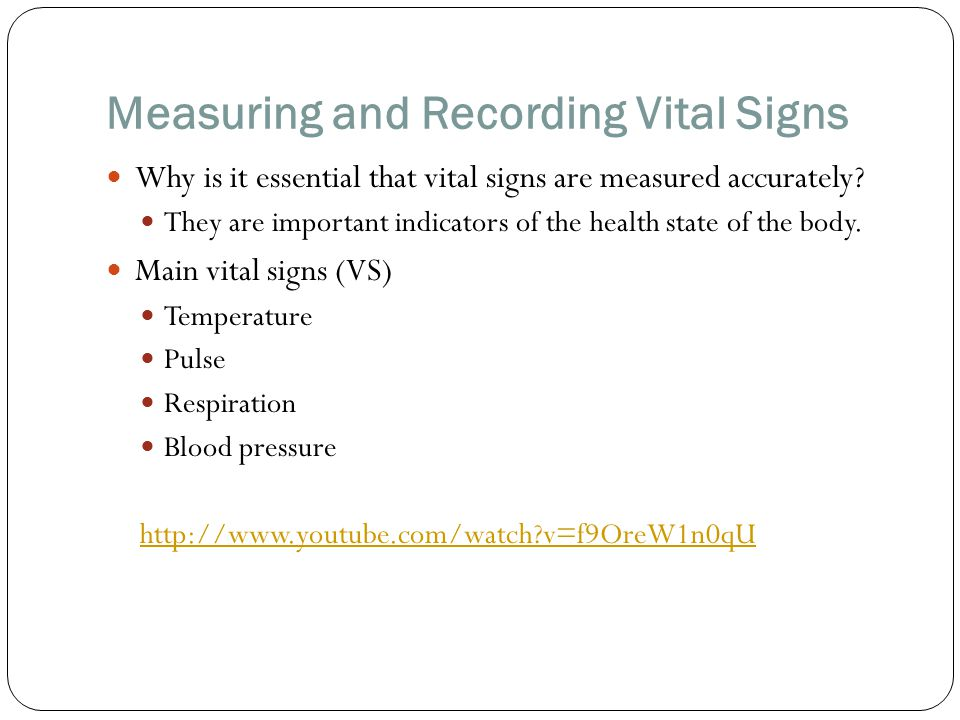 Measuring and Recording Vital Signs