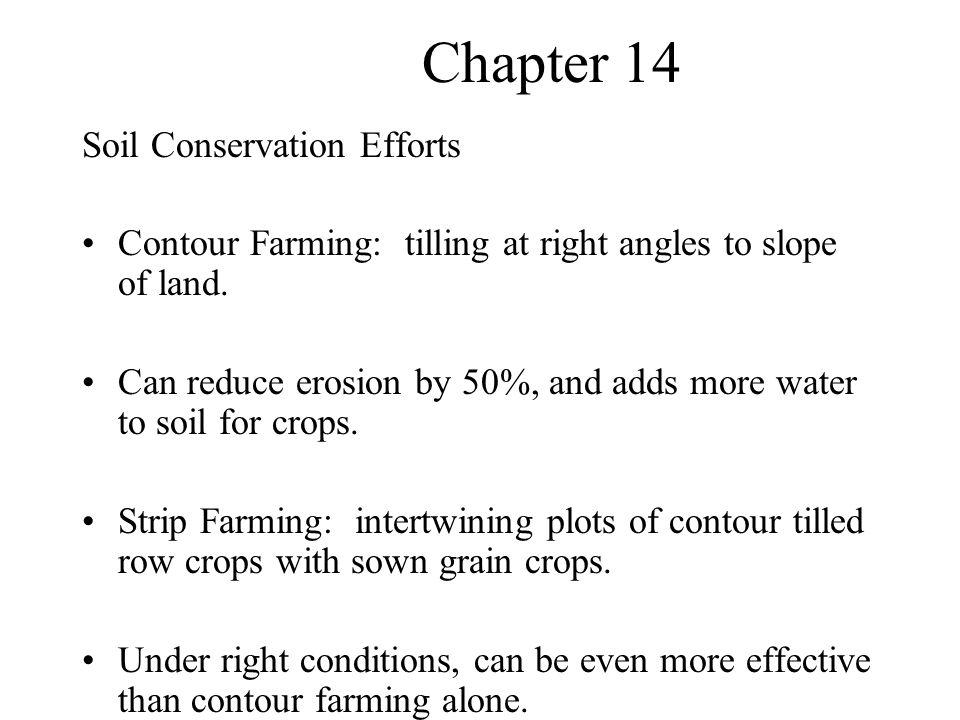Chapter 14 Soil Conservation Efforts