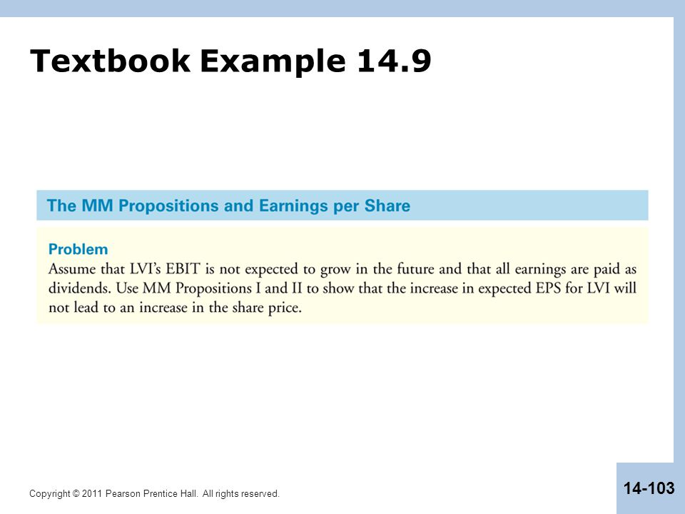 Textbook Example 14.9