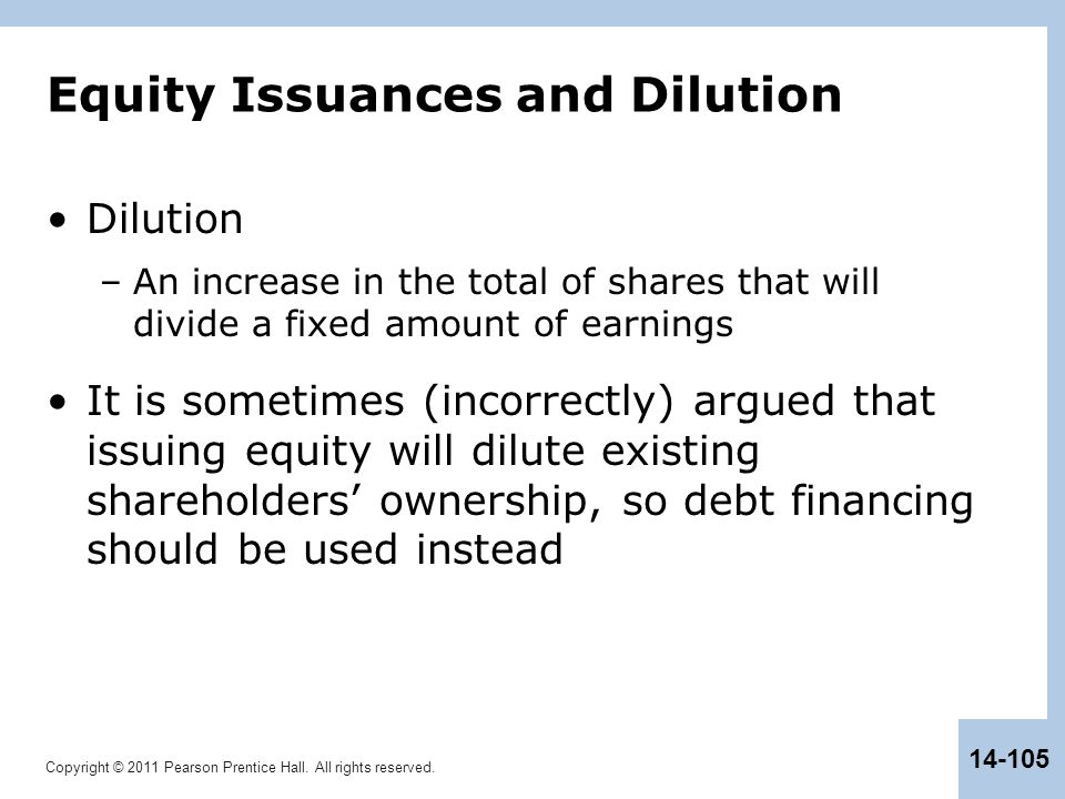 Equity Issuances and Dilution