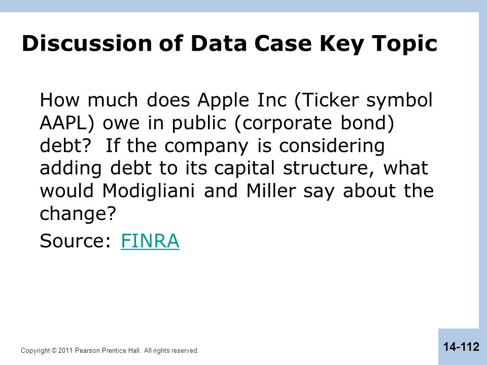 Discussion of Data Case Key Topic