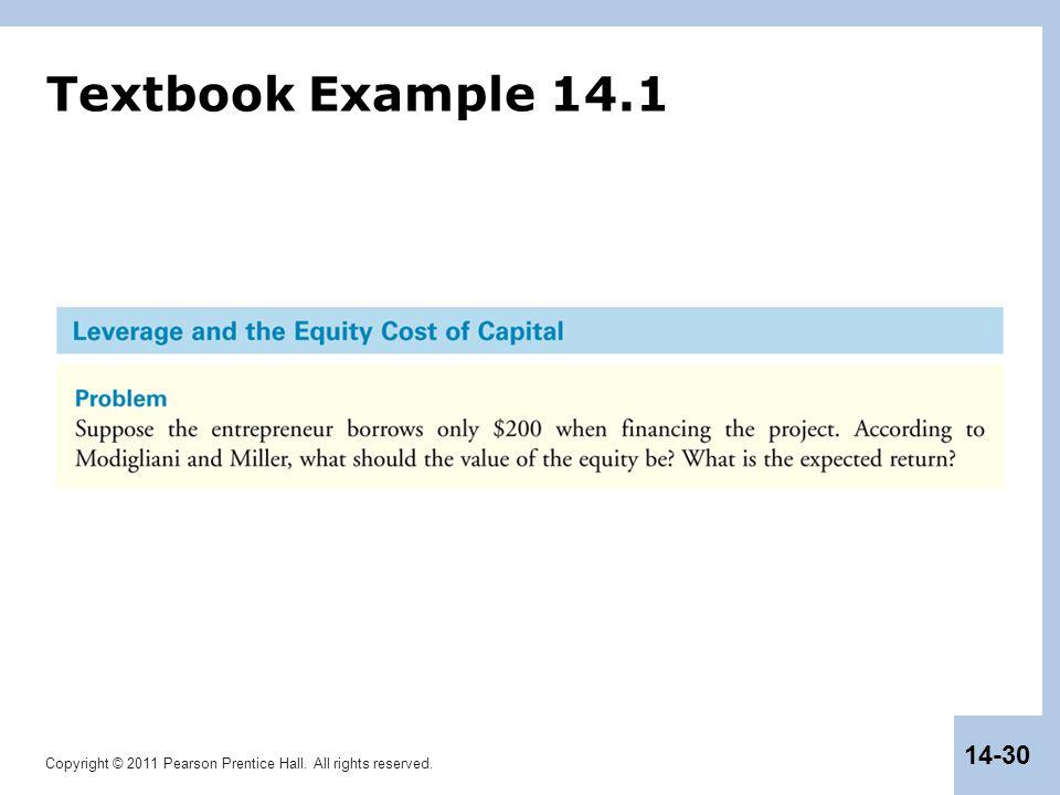 Textbook Example 14.1