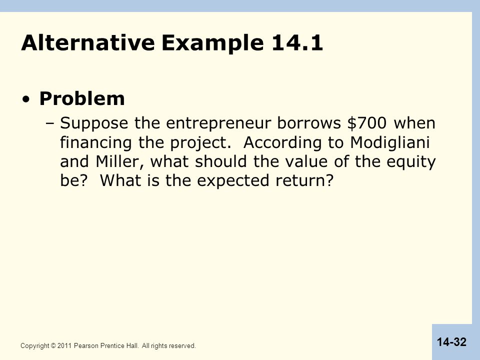 Alternative Example 14.1 Problem