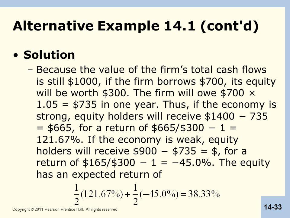 Alternative Example 14.1 (cont d)