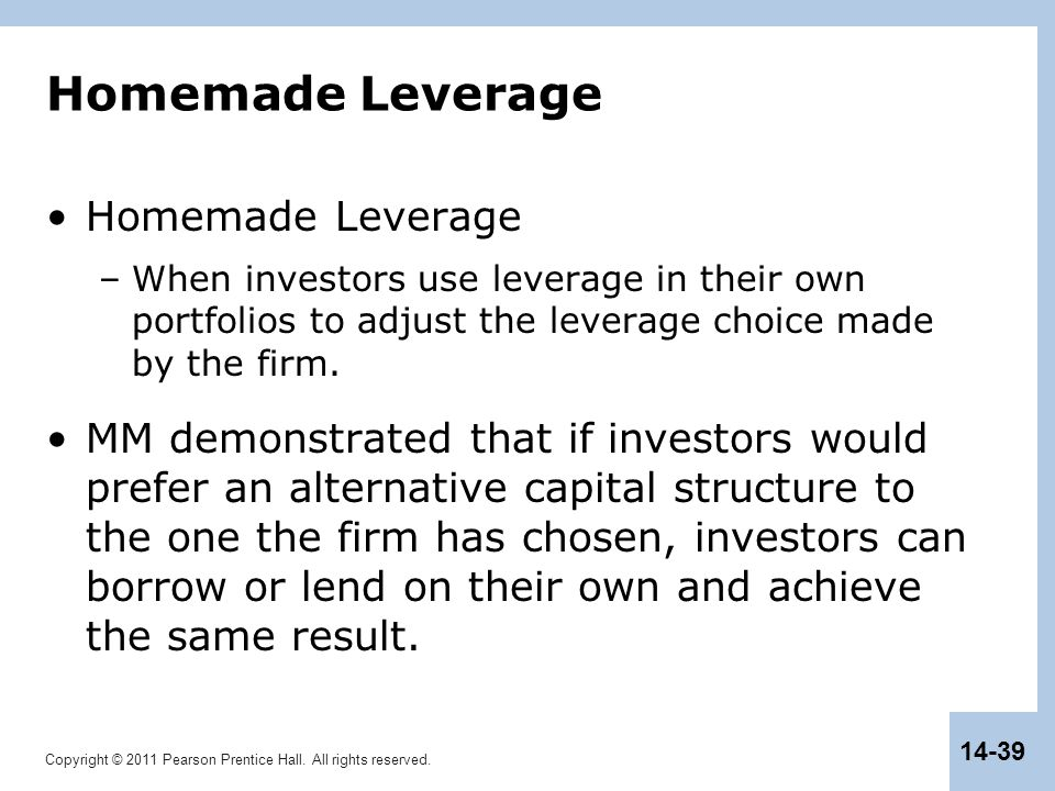 Homemade Leverage Homemade Leverage