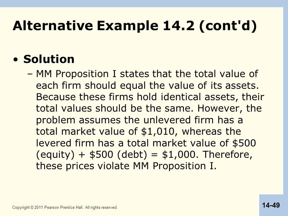 Alternative Example 14.2 (cont d)