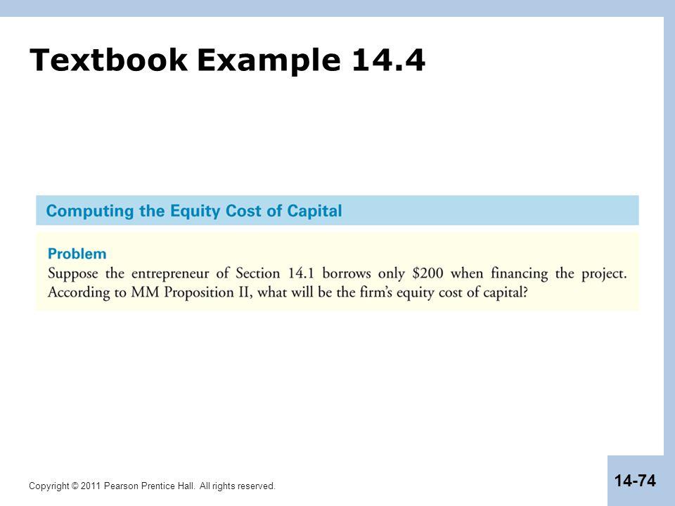 Textbook Example 14.4