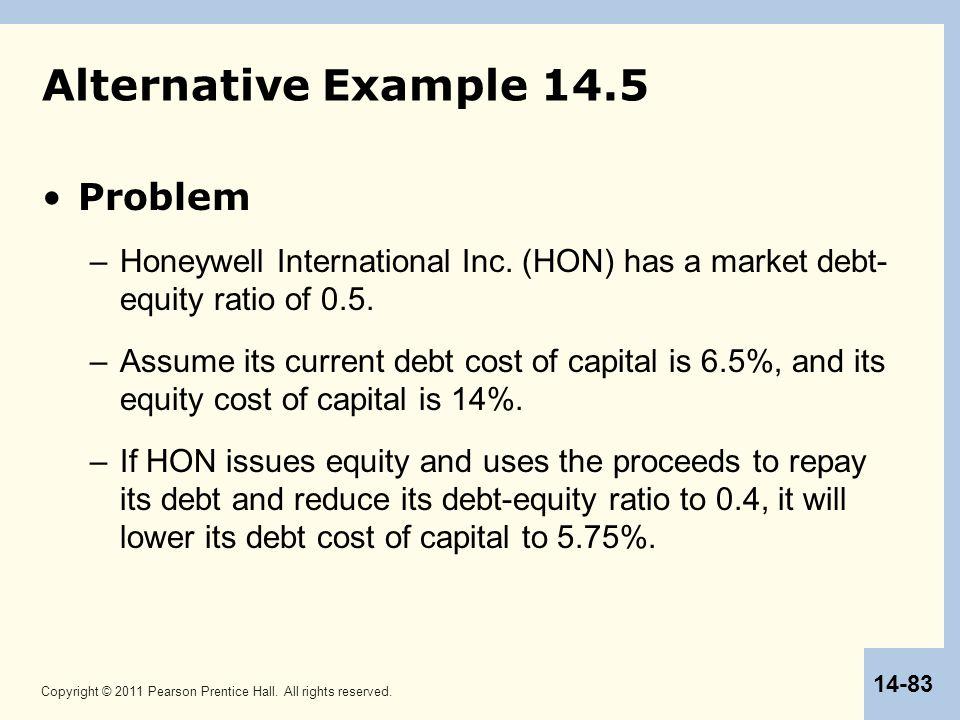 Alternative Example 14.5 Problem