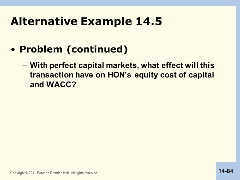Alternative Example 14.5 Problem (continued)