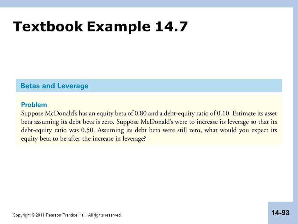 Textbook Example 14.7