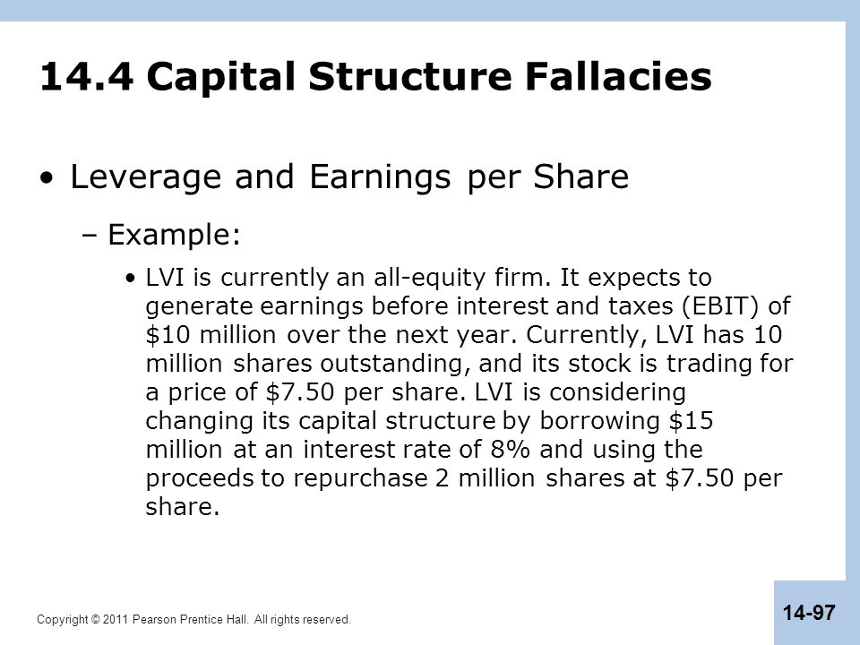 14.4 Capital Structure Fallacies