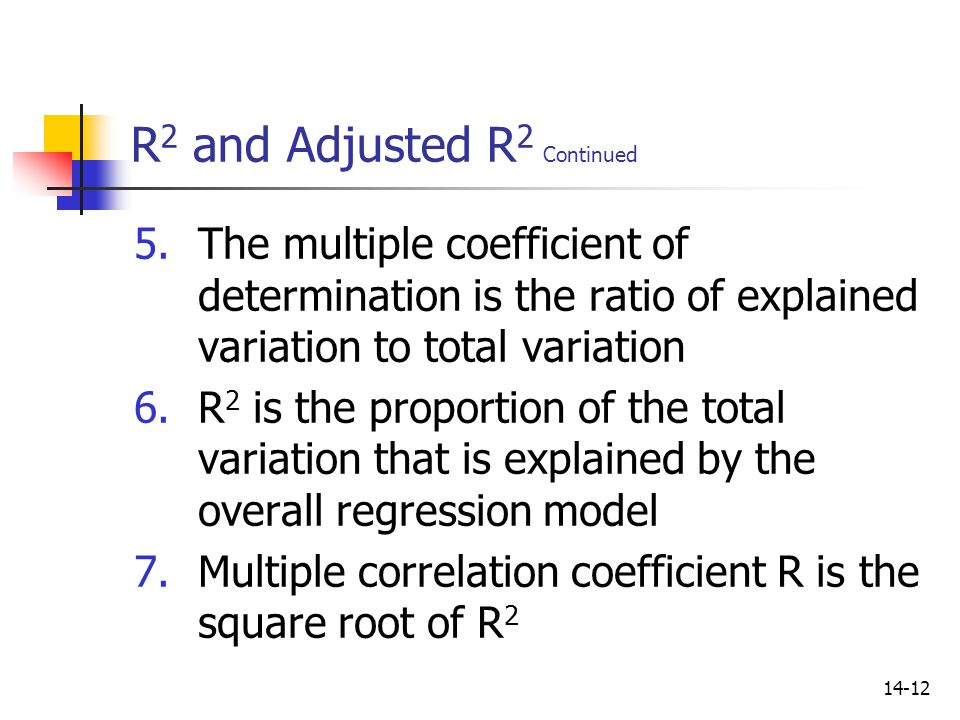 R2 and Adjusted R2 Continued