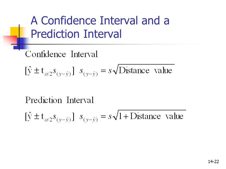 A Confidence Interval and a Prediction Interval