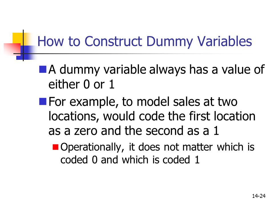 How to Construct Dummy Variables