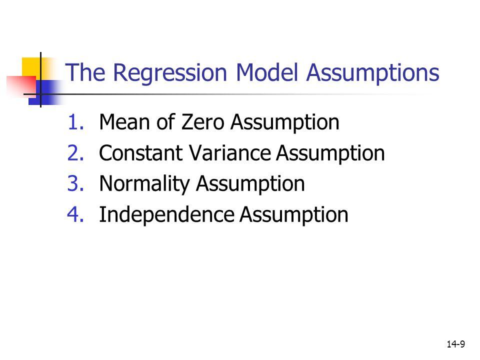 The Regression Model Assumptions