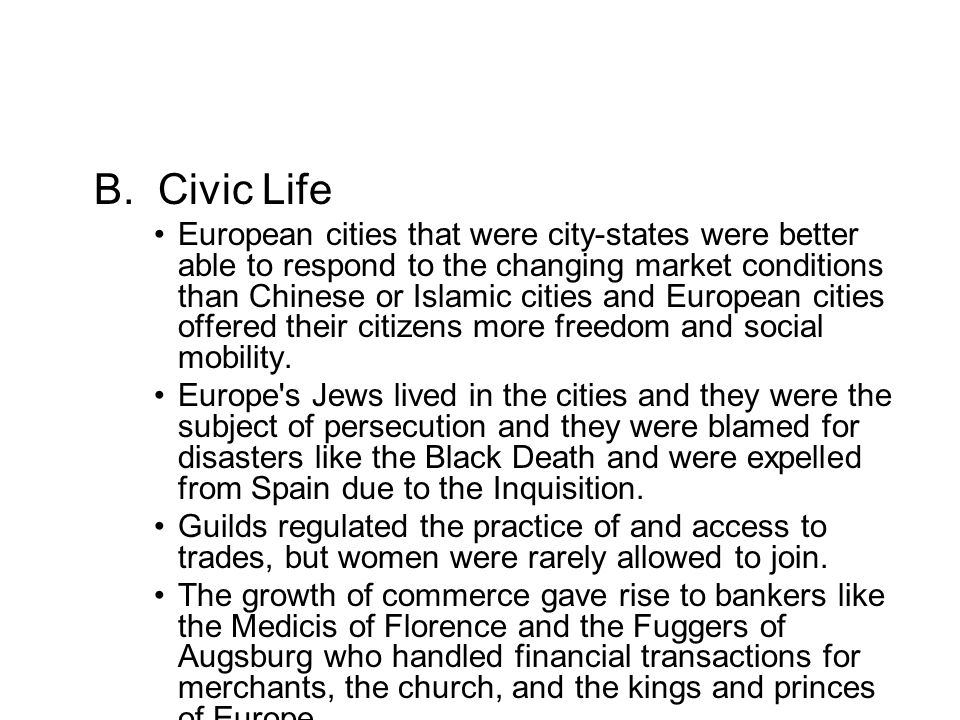 B. Civic Life
