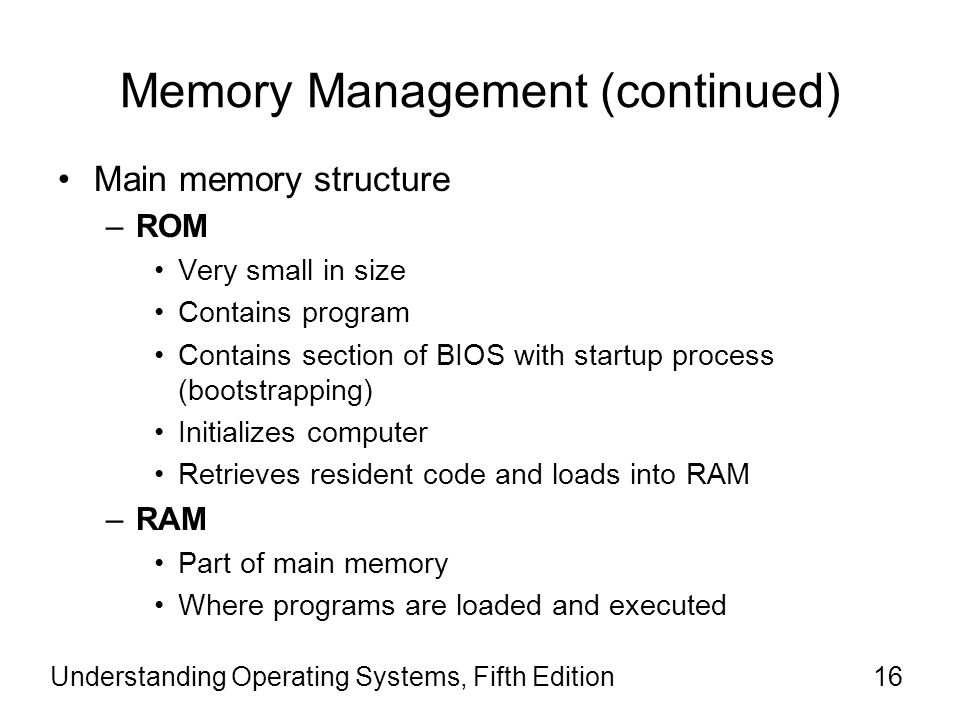 Memory Management (continued)