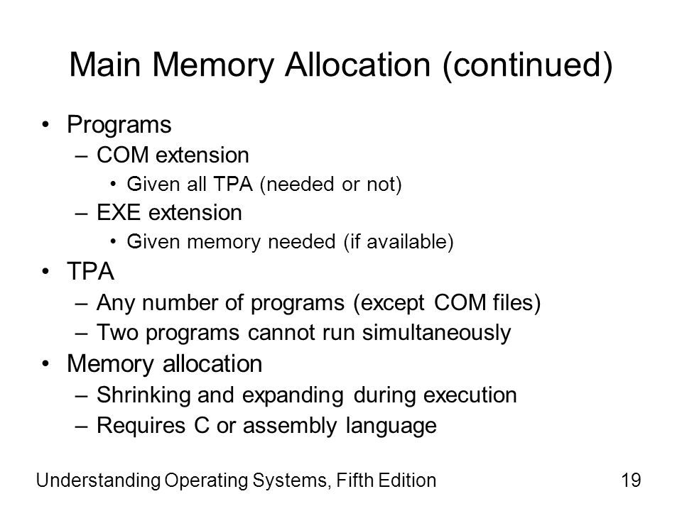 Main Memory Allocation (continued)