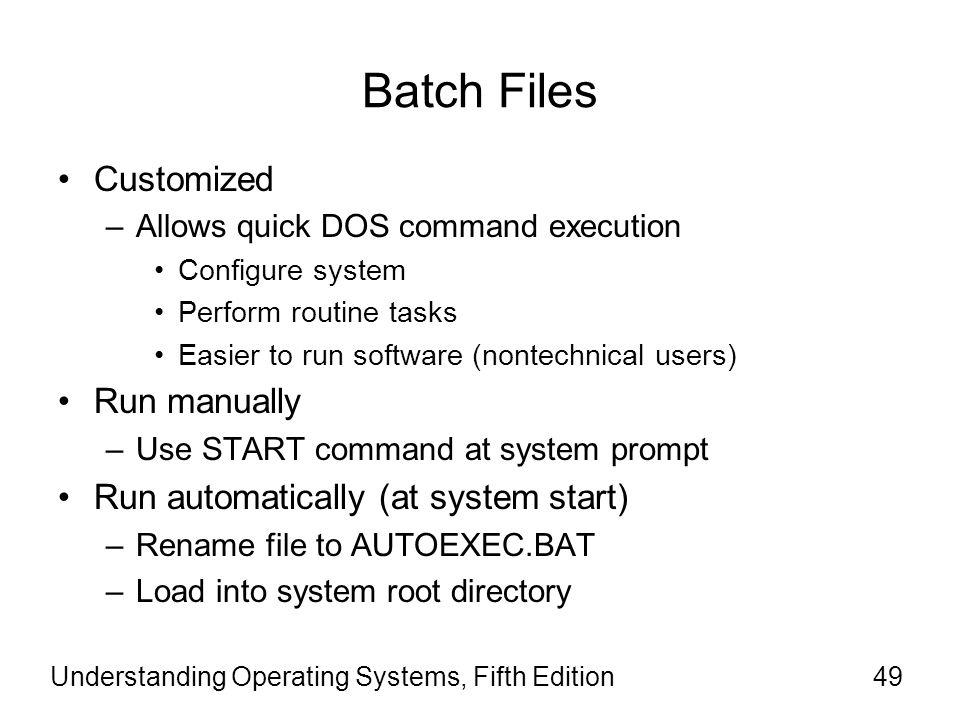 Batch Files Customized Run manually