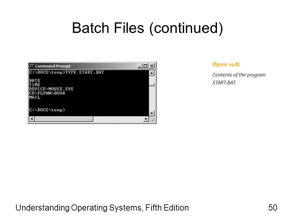 Batch Files (continued)