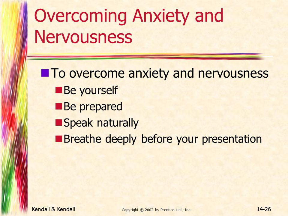 Overcoming Anxiety and Nervousness