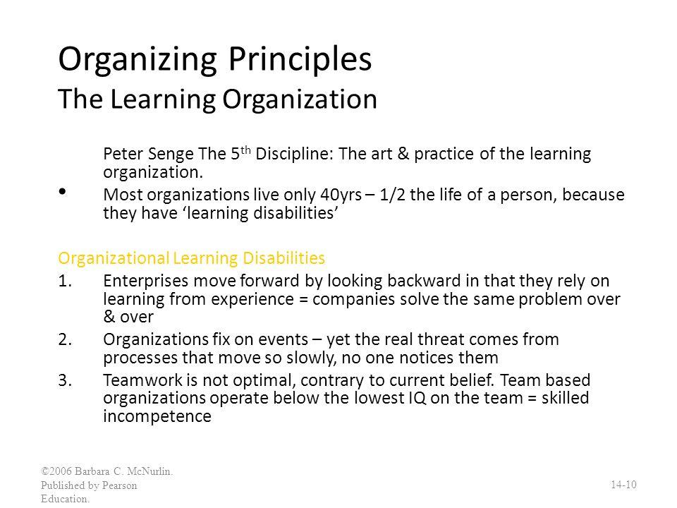 Organizing Principles The Learning Organization