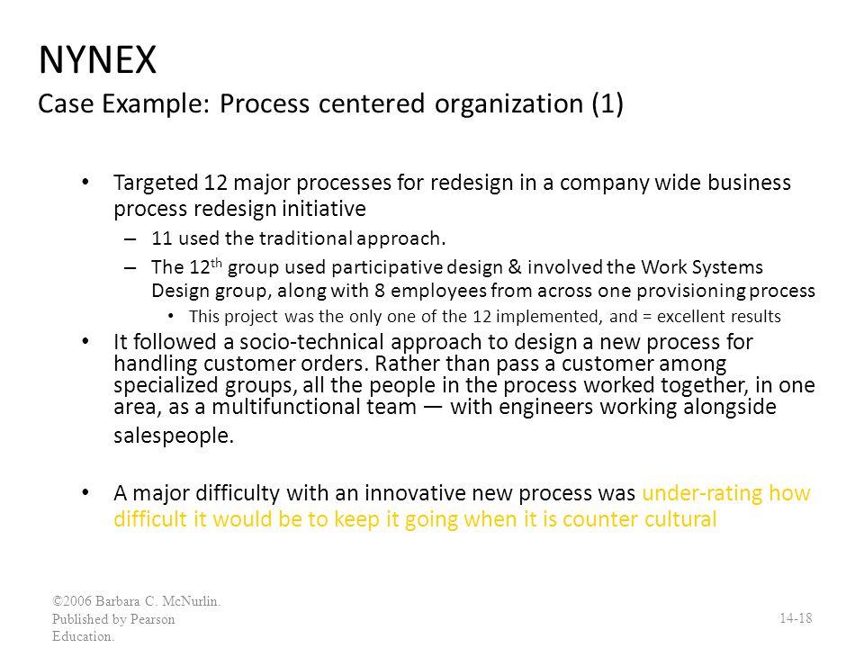 NYNEX Case Example: Process centered organization (1)