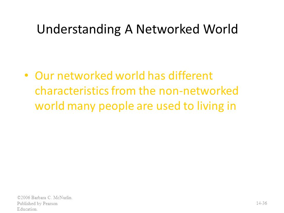 Understanding A Networked World