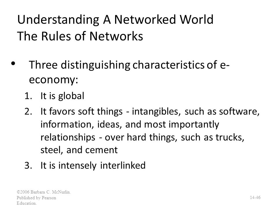 Understanding A Networked World The Rules of Networks
