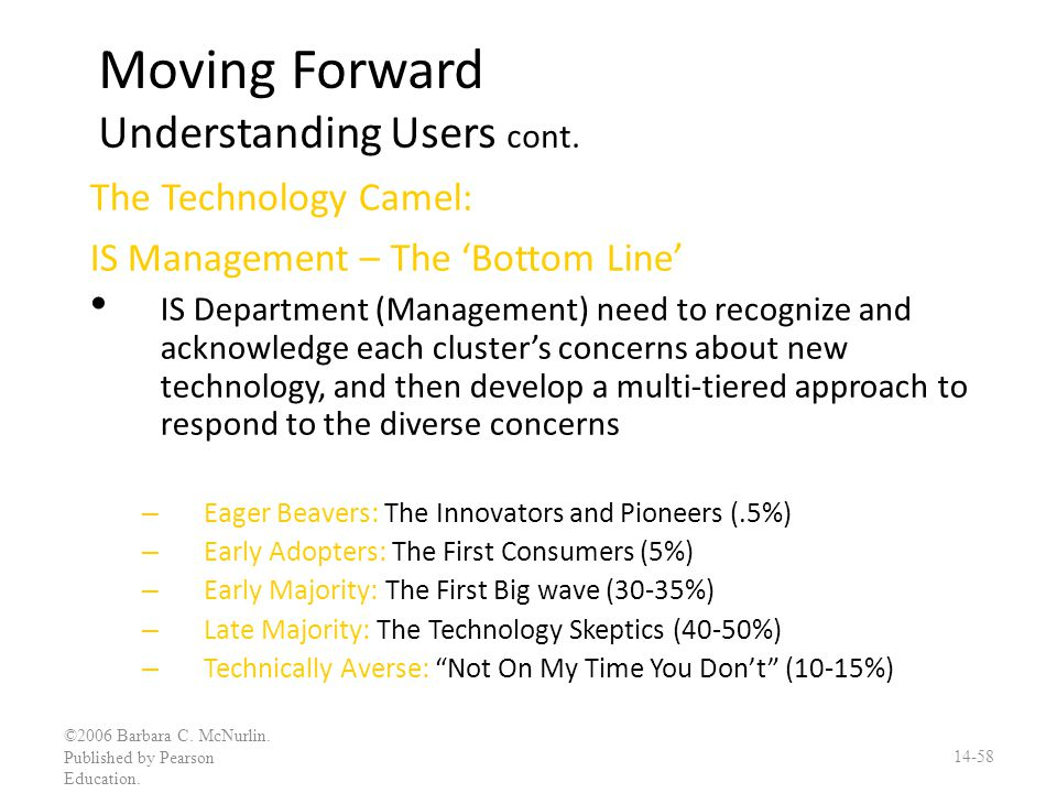 Moving Forward Understanding Users cont.