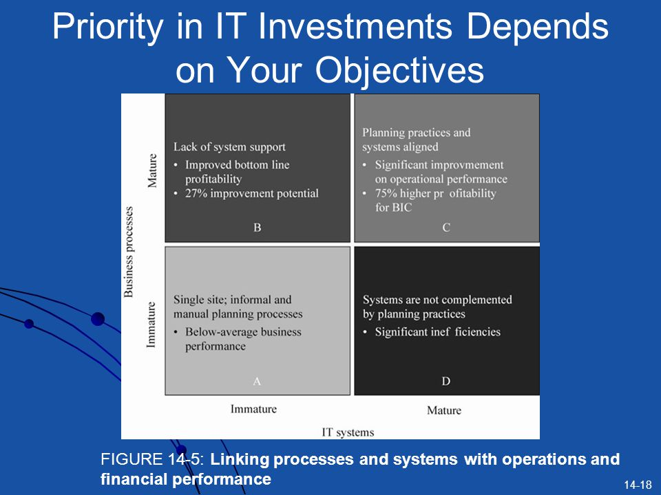 Priority in IT Investments Depends on Your Objectives