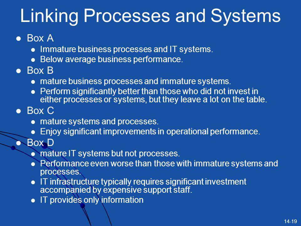 Linking Processes and Systems