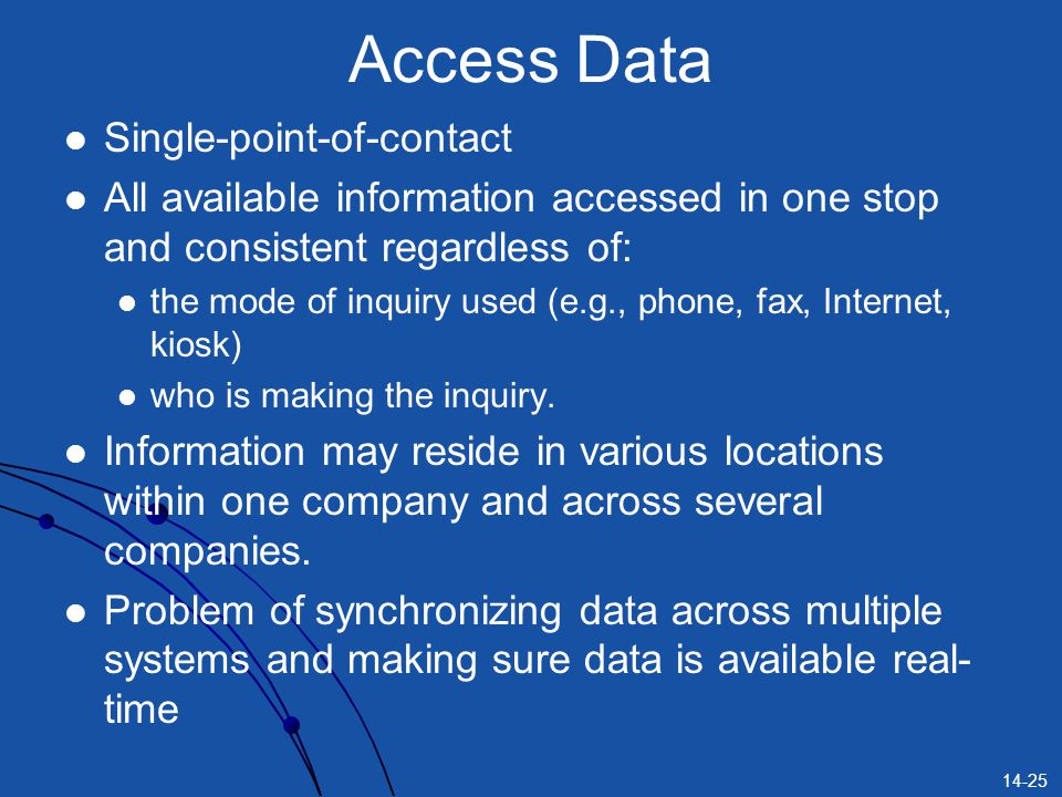 Access Data Single-point-of-contact