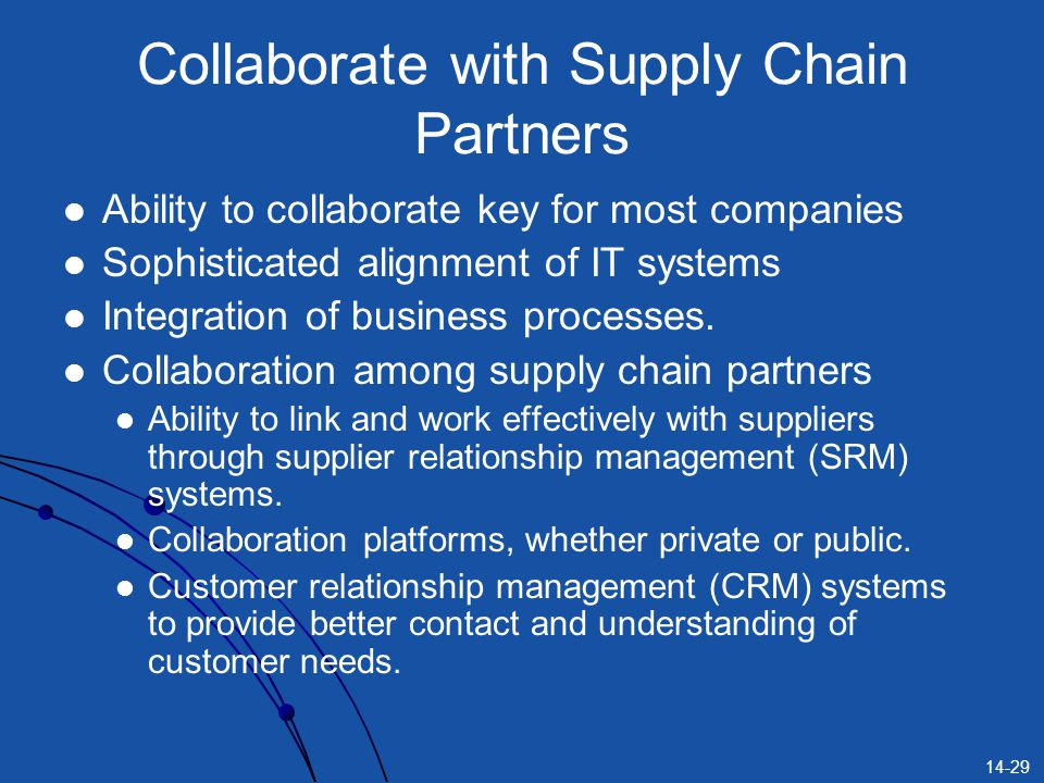 Collaborate with Supply Chain Partners