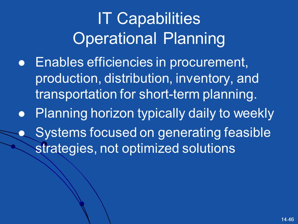 IT Capabilities Operational Planning