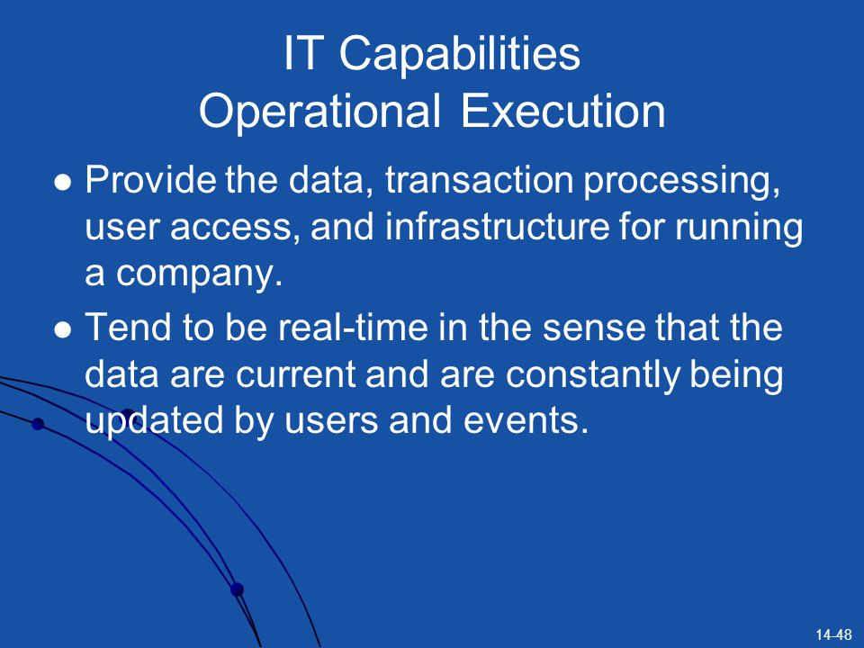 IT Capabilities Operational Execution