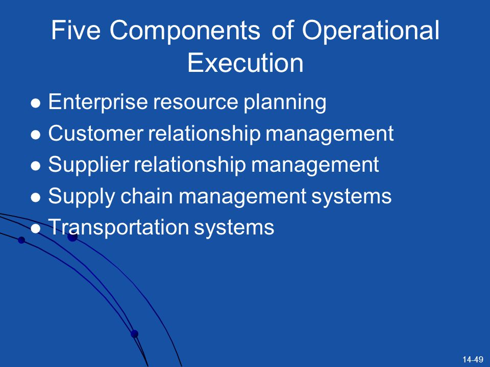 Five Components of Operational Execution