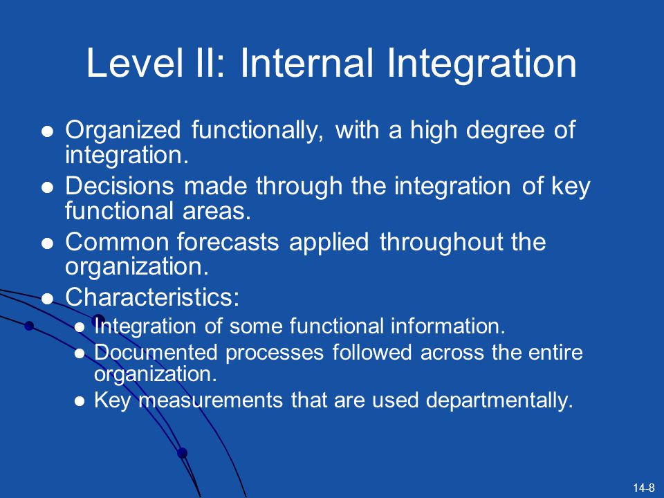 Level II: Internal Integration