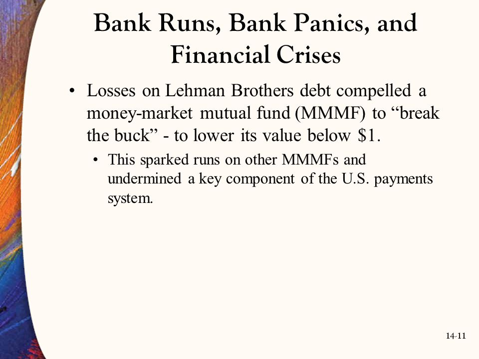 Bank Runs, Bank Panics, and Financial Crises