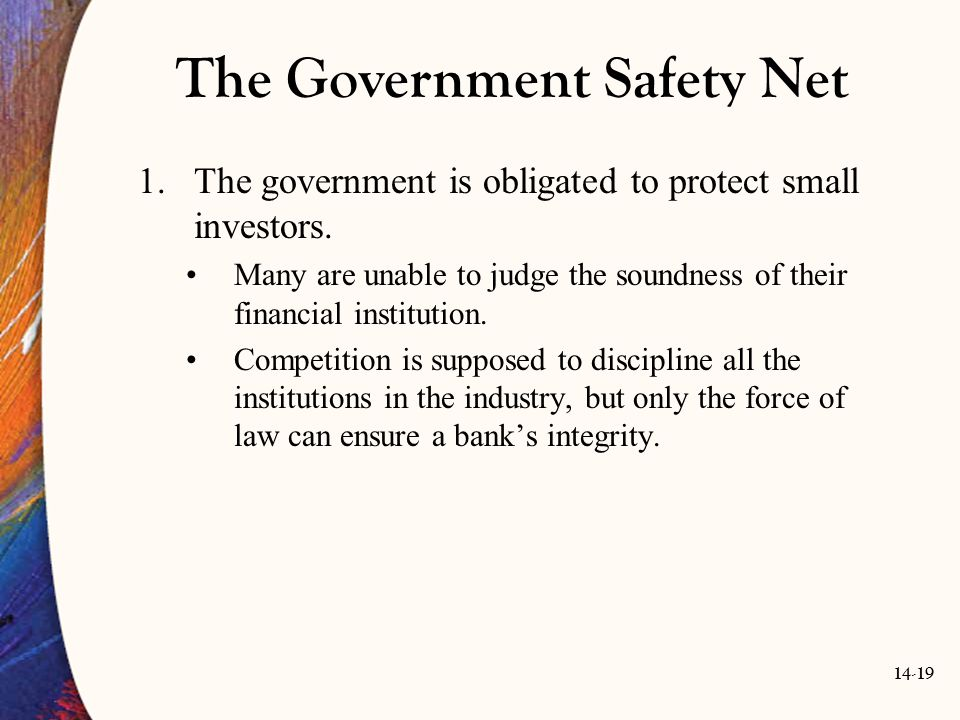 The Government Safety Net