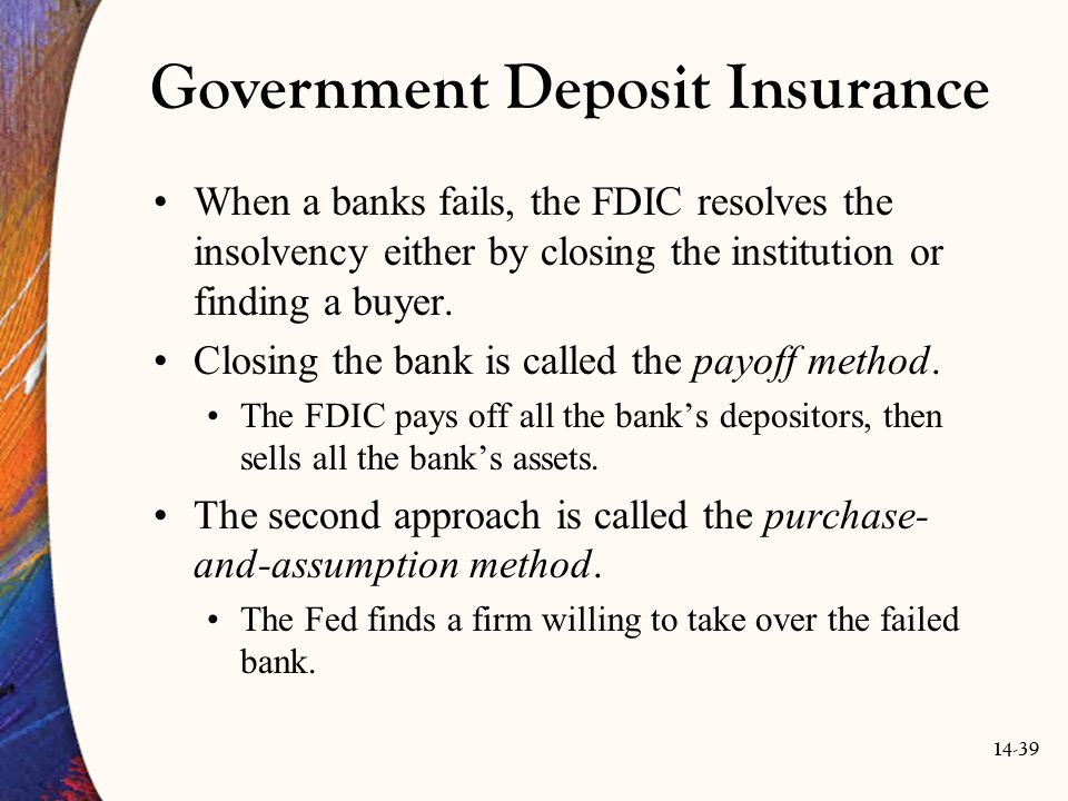 Government Deposit Insurance