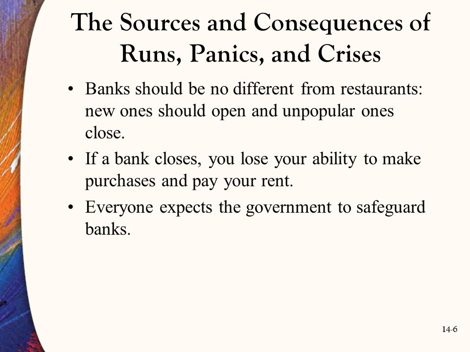 The Sources and Consequences of Runs, Panics, and Crises