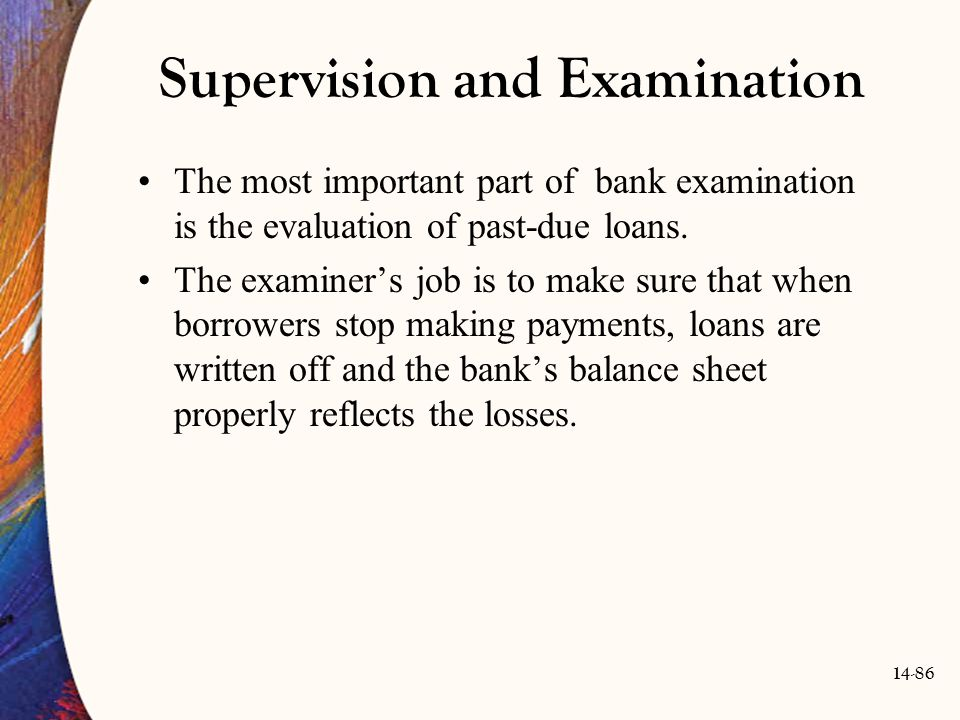 Supervision and Examination