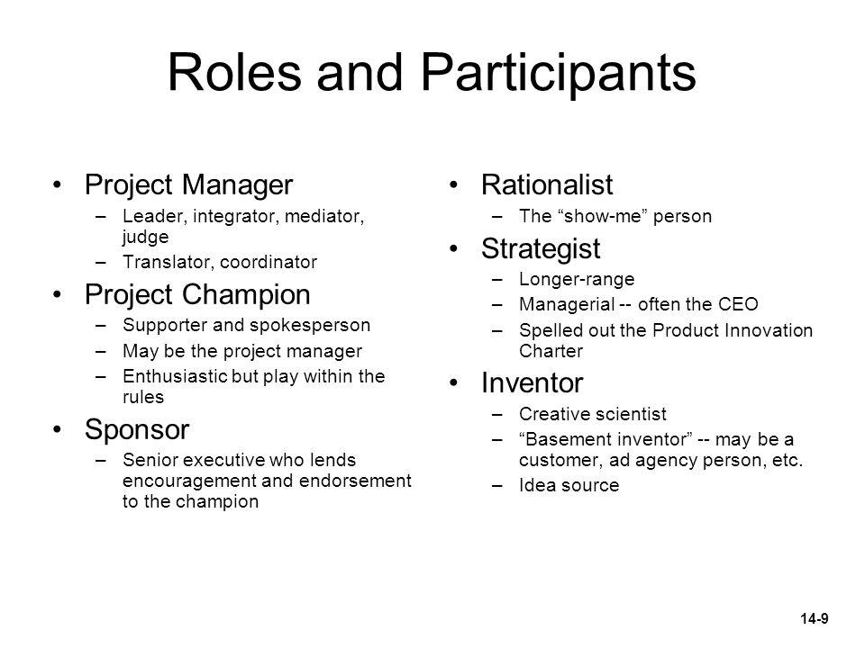 Roles and Participants