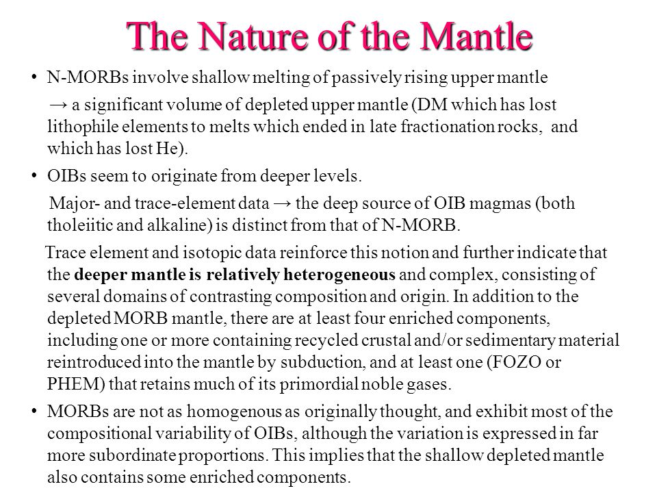 The Nature of the Mantle