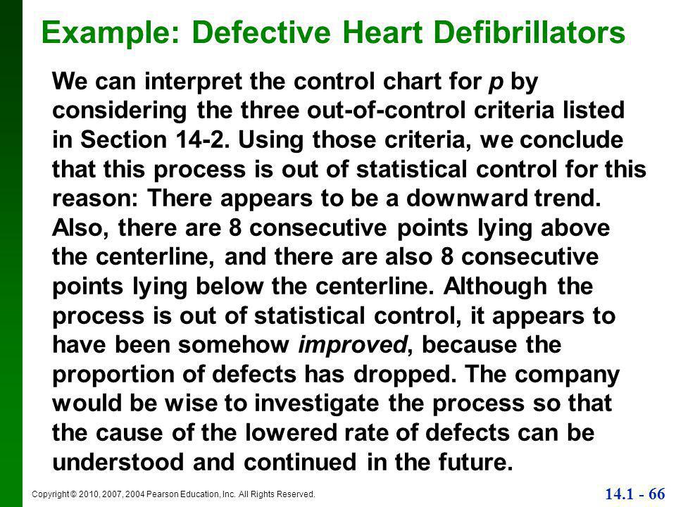 Example: Defective Heart Defibrillators