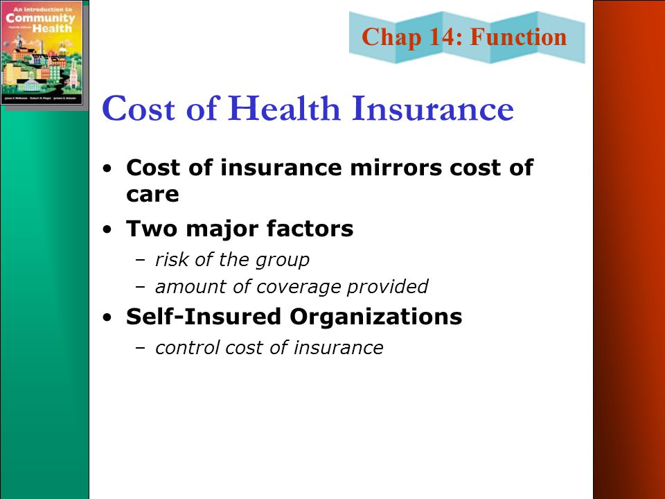 Cost of Health Insurance