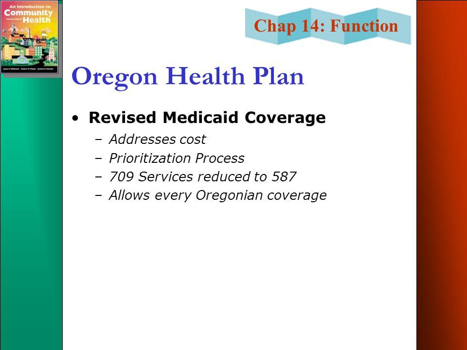 Oregon Health Plan Revised Medicaid Coverage Addresses cost